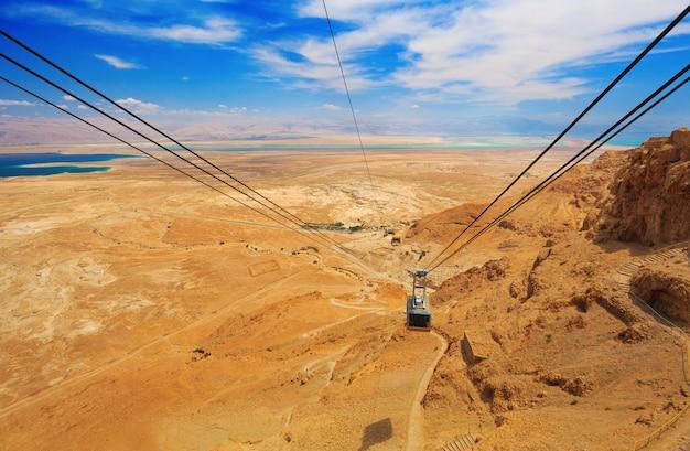 Kolejka linowa w twierdzy masada israel