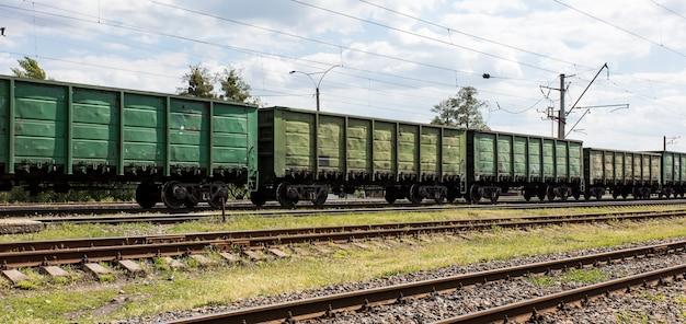 Kolejowy wagon towarowy