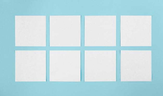 Kolekcja karteczek samoprzylepnych widok z góry
