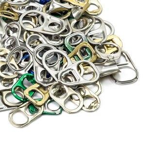 Kolekcja metalowego pierścienia do otwierania puszek