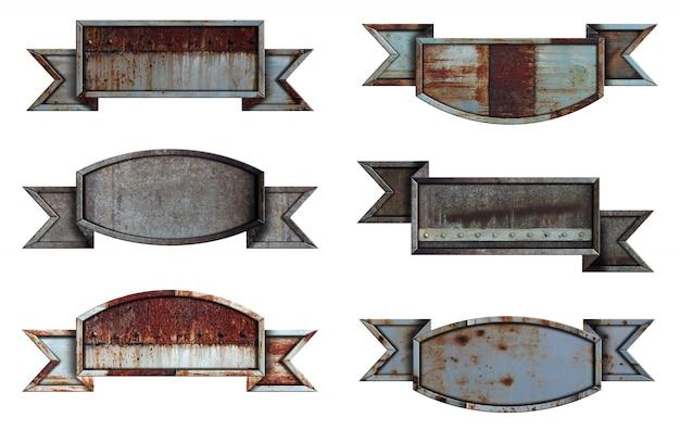 Kolekcja metalowych znaków