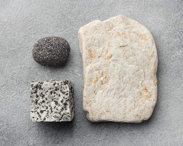 Kolekcja płaskich kamieni świeckich