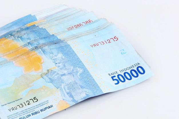 Kolekcja walut pięćdziesiąt tysięcy rupii