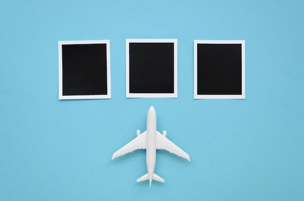Kolekcja zdjęć i samolot