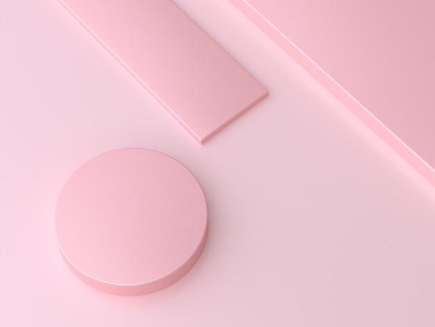Koło kąt kształt geometryczne różowe podłogi minimalne streszczenie 3d render