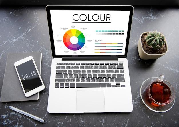 Koło kolorów podstawowe kolory brilliance pantone