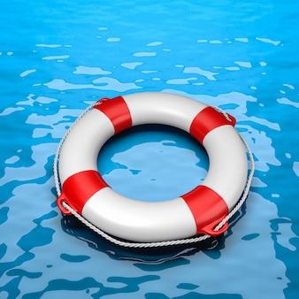Koło ratunkowe na morzu