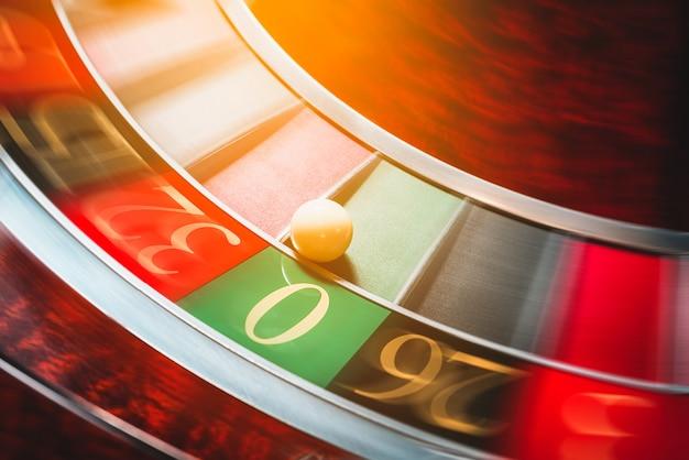 Koło ruletki. kasyno. gra hazardowa.