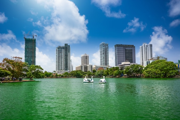 Kolombo panoramę miasta, sri lanka