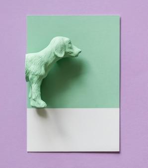 Kolor miniaturowy model postaci psa