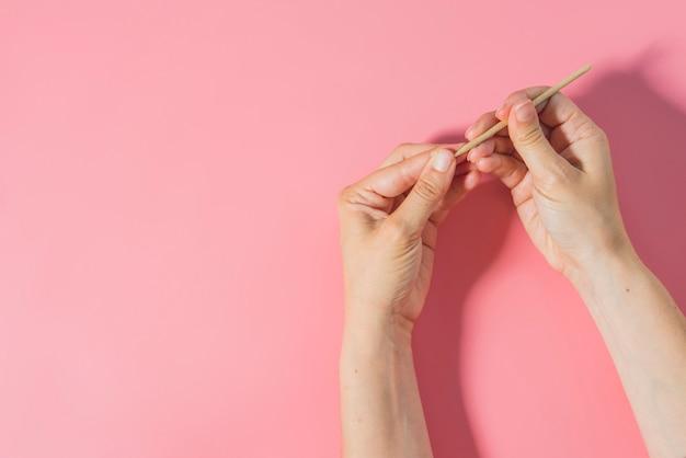 Kolor od góry do pielęgnacji paznokci