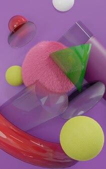 Kolor pełny portret abstrakcyjne tło - renderowanie 3d premium zdjęcia