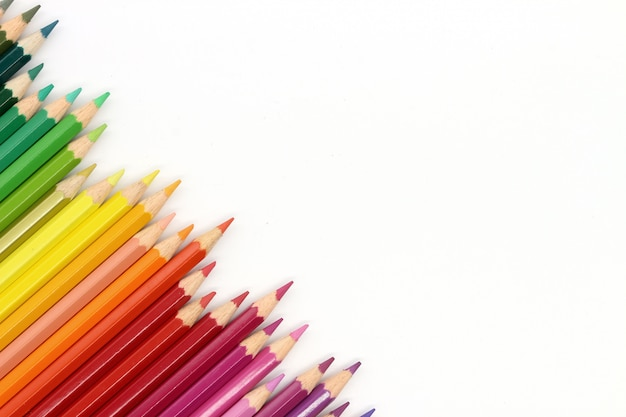 Kolor skład kolorowych ołówków