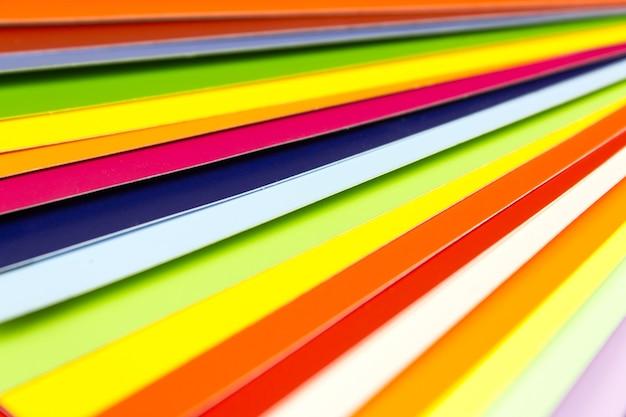 Kolor Tła Przewodnika, Kolorowy Katalog. Paleta Kolorów. Premium Zdjęcia
