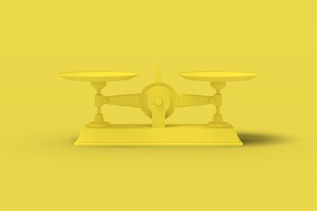 Kolor żółty waży na żółtym tle