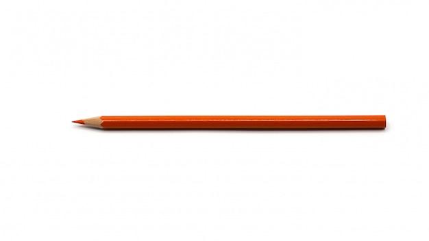 Kolorów pomarańczowi ołówki odizolowywający