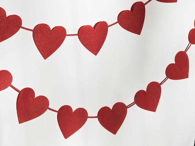 Kolorowa dekoracja w kształcie serca