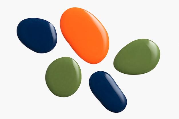 Kolorowa farba akrylowa w odcieniu