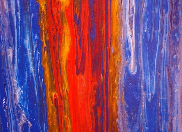 Kolorowa farba olejna płynąca na płótnie