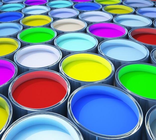 Kolorowa farba