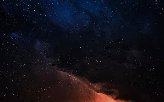 Kolorowa mgławica z miliardami gwiazd i planet. elementy tego zdjęcia dostarczone przez nasa
