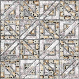 Kolorowa mozaika reliefowa wykonana z kamienia naturalnego. tekstura tła. element do projektowania wnętrz. brukowe płyty chodnikowe