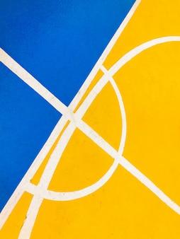 Kolorowa podłoga boiska do koszykówki