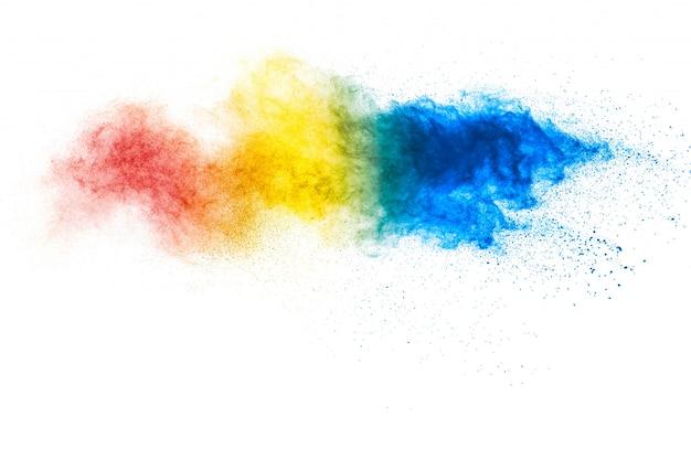 Kolorowa powierzchnia wybuchu pastelowego proszku