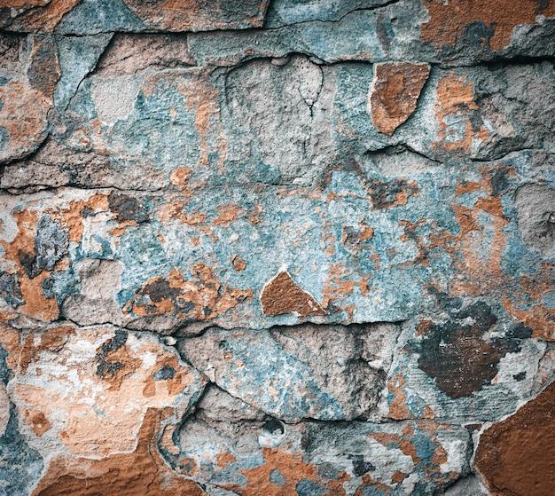 Kolorowa ściana z cegieł tekstura