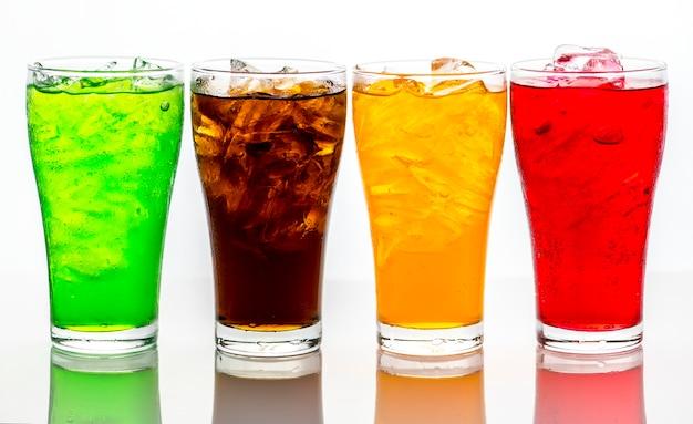 Kolorowa soda pije makro- strzał