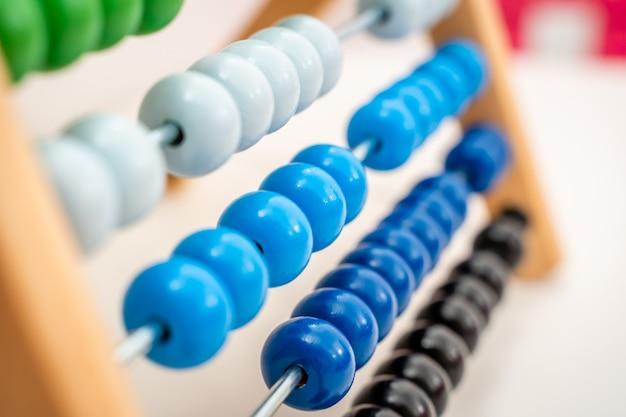Kolorowe abacus bliska