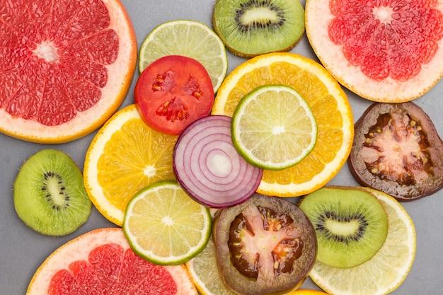Kolorowe abstrakcyjne plastry owoców