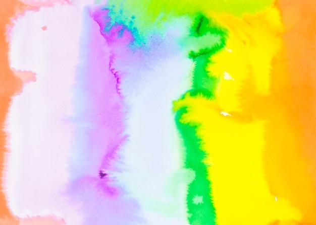Kolorowe abstrakcyjne pociągnięcie pędzlem akwarela