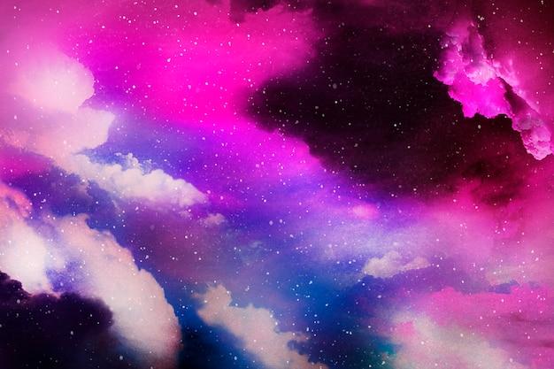 Kolorowe abstrakcyjne tło teksturowane wszechświata