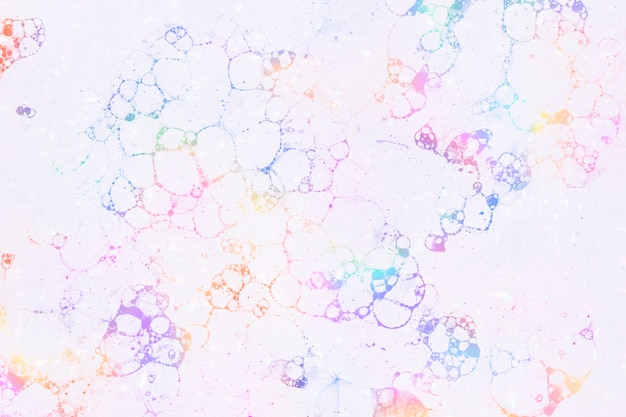 Kolorowe bąbelkowe różowe tło w kobiecym stylu