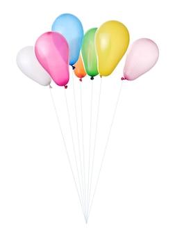 Kolorowe balony na białym tle