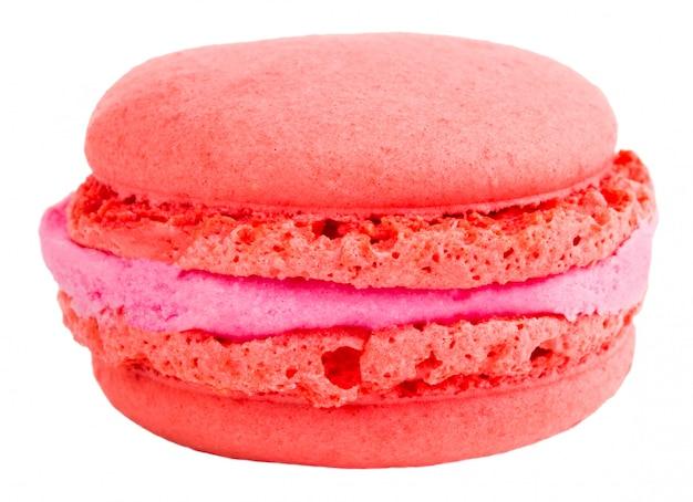 Kolorowe ciasta macarons. małe francuskie ciastka. słodkie i kolorowe francuskie makaroniki