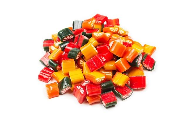 Kolorowe cukierki cytrusowe galaretki cukierki widok z góry