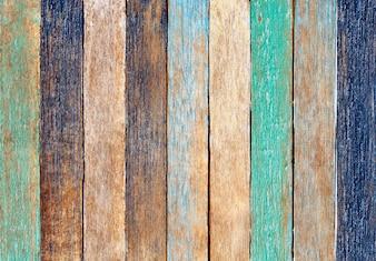 Kolorowe drewniane deski