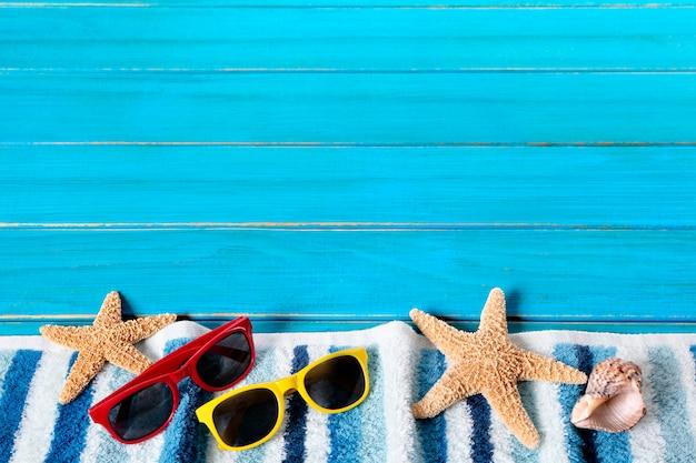 Kolorowe elementy plaża