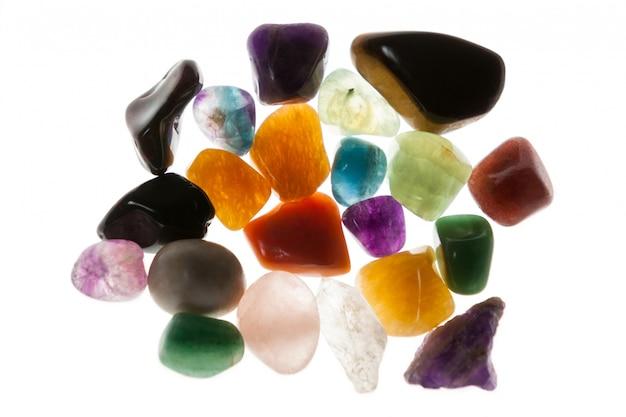 Kolorowe kamienie otoczaki