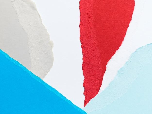 Kolorowe kawałki papieru