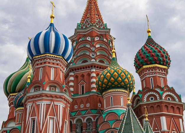 Kolorowe kopuły świętego bazylego,, moskwa, rosja