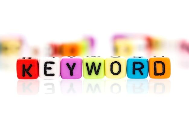 Kolorowe kostki słowo słowa kluczowego