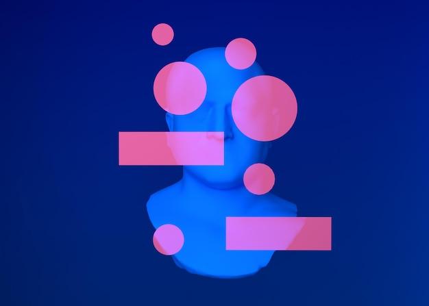 Kolorowe kształty 3d w stylu vaporwave