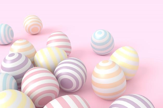 Kolorowe kulki w pastelowym odcieniu