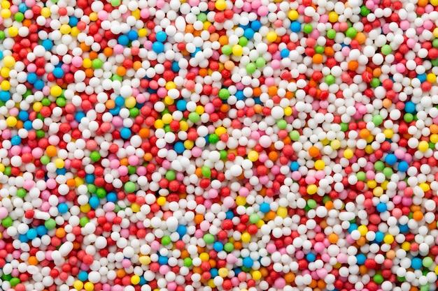 Kolorowe kulki z cukru słodkiego. wzór małej kulki.