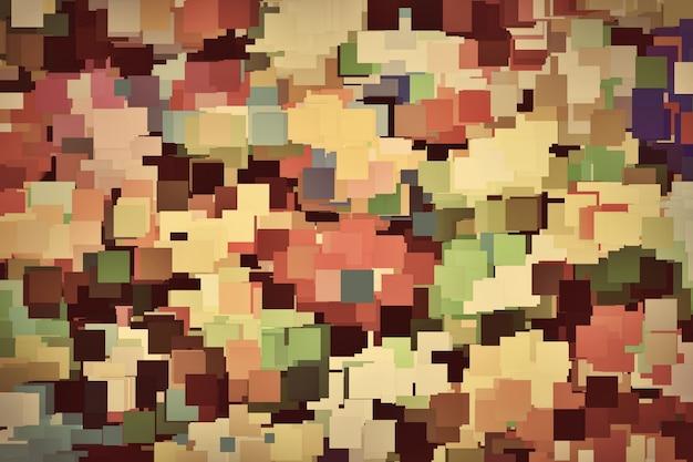 Kolorowe kwadraty w tle