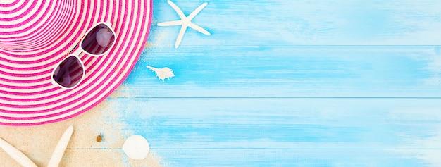 Kolorowe letnie wakacje plaża transparent tło