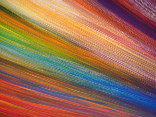 Kolorowe linie maluje abstrakcjonistyczną teksturę.